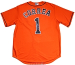 Carlos Correa Autographed Houston Astros Orange Jersey