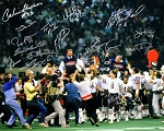 1985 Chicago Bears Super Bowl Champs Autographed 16x20 Photo - 16 Signatures