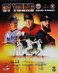 Mike Scott, Roger Clemens & Dallas Keuchel Autographed Astros 16x20 Photo