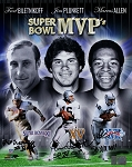 Biletnikoff, Plunkett & Allen Autographed Raiders Super Bowl MVPs 16x20 Photo