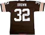 Jim Brown Autographed Cleveland Browns Throwback Jersey Inscribed HOF 71