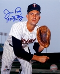 Jim Perry Autographed Minnesota Twins 8x10 Photo Inscribed 1970 Cy Young