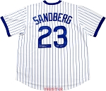 Ryne Sandberg Autographed Chicago Cubs Pinstripe Jersey Inscribed HOF 05