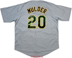 Mark Mulder Autographed Oakland A's Custom Jersey Inscribed 21 Wins