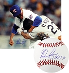 Nolan Ryan Autographed Ventura Fight 16x20 Photo & Baseball Inscribed HOF