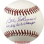 Bob Skinner Autographed Major League Baseball Inscribed 60, 64 Champs