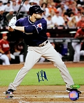 Kevin Kousmanoff Autographed San Diego Padres At Bat 8x10 Photo
