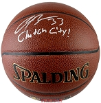 Corey Brewer Autographed Spalding NBA I/O Basketball Inscribed Clutch City!
