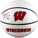 Frank Kaminsky Autographed Wisconsin Badgers Basketball