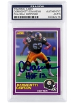 Dermontti Dawson Autographed 1989 Score Supplemental 408S Rookie Card Inscribed HOF 12