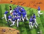 2016 Chicago Cubs Autographed World Series Champions 16x20 Photo with 26 Signatures