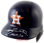 Jeff Bagwell Autographed Houston Astros Full Size Batting Helmet Inscribed HOF 17