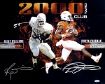D'Onta Foreman & Ricky Williams Autographed 2,000 Rushing Yards 16x20 Photo