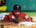 Jose Altuve Autographed Houston Astros Sliding 8x10 Photo