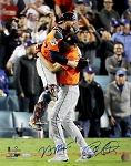 Brian McCann & Charlie Morton Autographed 2017 World Series Final Out 16x20 Photo