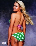 Natalie Gulbis Autographed SI Swimsuit 8x10 Photo