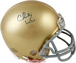 Charlie Weis Autographed Notre Dame Fighting Irish Mini Helmet