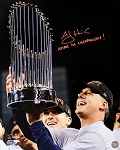 AJ Hinch Autographed 2017 World Series 16x20 Photo Inscribed Astros 1st Championship!