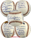 Reggie Jackson Autographed Stat Baseball Inscribed with 20 Stats LE 227/1000