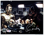Anthony Daniels 'C-3PO' & Peter Mayhew 'Chewbacca' Autographed Star Wars 8x10 Photo