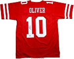 Ed Oliver Autographed Houston Cougars Custom Jersey