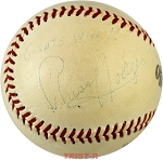 Russ Hodges Autographed Vintage Baseball Inscribed Giants Win!!