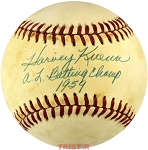 Harvey Kuenn Autographed Baseball Inscribed AL Batting Champ PSA/DNA Grade 6.5