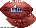 Tom Brady Autographed Official NFL Super Bowl LIII Football