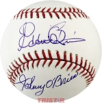 Johnny & Ed O'Brien Autographed Baseball