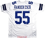 Leighton Vander Esch Autographed Dallas Cowboys Custom White Jersey