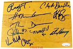 Houston Rockets 1994 & 1995 NBA Champions Autographed Summit Floor Piece - Olajuwon, Drexler & More