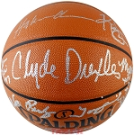 Houston Rockets 1994 & 1995 NBA Champions Autographed Basketball - Olajuwon, Drexler & More