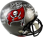 Warren Sapp Autographed Tampa Bay Buccaneers Full Size Helmet with 8 Inscriptions