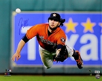 Jake Marisnick Autographed Houston Astros Diving Catch 16x20 Photo