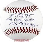 Ryan Pressly Autographed Major League Baseball Inscribed with MLB Record