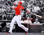 Josh Hamilton Autographed Texas Rangers 16x20 Photo with 6 Inscriptions