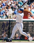 Bob Hamelin Autographed Kansas City Royals 8x10 Photo Inscribed 94 AL ROY