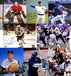 Autographed Chicago Bears, Cubs, White Sox & Blackhawks 8x10 Photos Combo