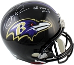 Ray Lewis Autographed Baltimore Ravens Full Size Helmet Inscribed SB XXXV MVP