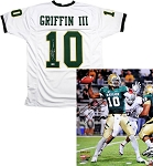Robert Griffin III Autographed Baylor Bears 16x20 Photo & Jersey Inscribed Heisman 11