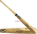 Ernie Banks Autographed Rawlings Bat Inscribed HOF 77, Mr Cub
