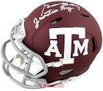 Gene Stallings Autographed Texas A&M Aggies Mini Helmet Inscribed Junction Boy