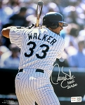 Larry Walker Autographed Colorado Rockies 8x10 Photo Inscribed HOF 2020