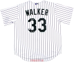 Larry Walker Autographed Colorado Rockies Replica Jersey Inscribed HOF 2020