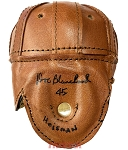 Doc Blanchard Autographed Leather Mini Helmet Inscribed 45 Heisman