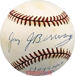 Jay Berwanger Autographed National League Baseball Inscribed Heisman 1935