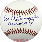 Scott Carpenter Autographed Major League Baseball Inscribed Aurora 7