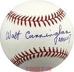 Walt Cunningham Autographed Major League Baseball Inscribed Apollo 7