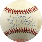 Hopalong Cassady Autographed American League Baseball Inscribed 55, 40