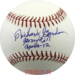 Richard Gordon Autographed Major League Baseball Inscribed Gemini 11 Apollo 12